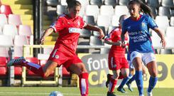 Cliftonville's Billie Simpson is going up against the cream of the world's footballing crop.