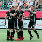 Game over: Tom Grambusch is congratulated after Germany's second goal