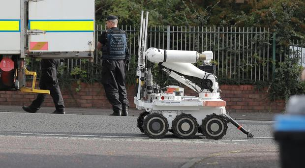 A security alert on Belfast's Springfield Road