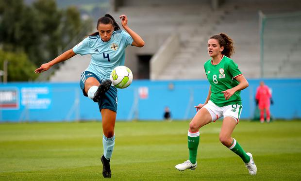 Northern Ireland's Laura Rafferty is out with a long-term injury. ©INPHO/Ryan Byrne