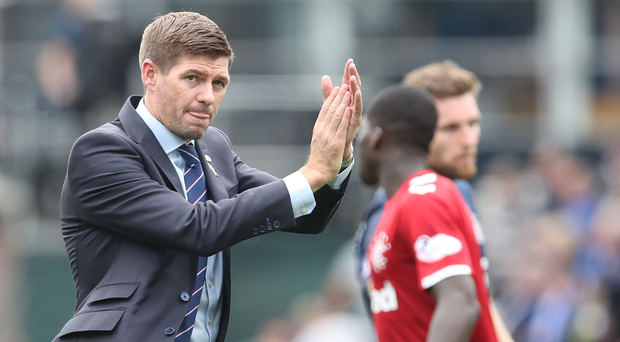 Confident: Steven Gerrard has total belief in his Gers players ahead of tonight's Legia clash