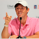 Making a point: Rory McIlroy is unsure about the Tour Championship's new look, as well as giving the $15m prize such importance