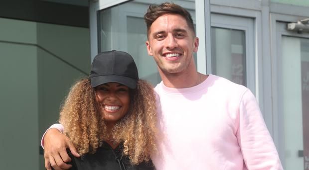 Love Island winners Amber Gill and Greg O'Shea (Yui Mok/PA)