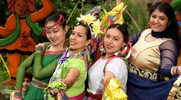 Some of the performers who will be at the Belfast Mela at Botanic Gardens on Sunday