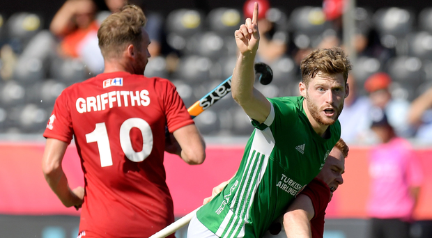 Little consolation: Ireland ace Michael Robson fires home