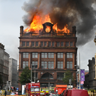 History in flames: the blaze at Bank Buildings last August