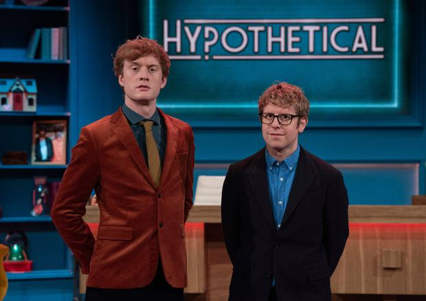 James Acaster on TV show Hypothetical with Josh Widdicombe