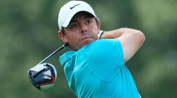 Rory McIlroy is just one shot back at the midway point in the Tour Championship.