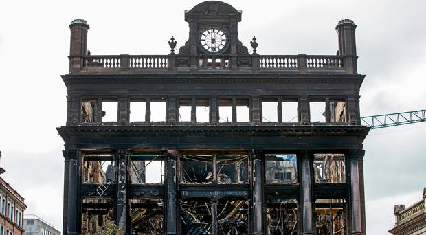 'The charred remains of this historic building were a reminder of a wider malaise affecting city centre businesses'