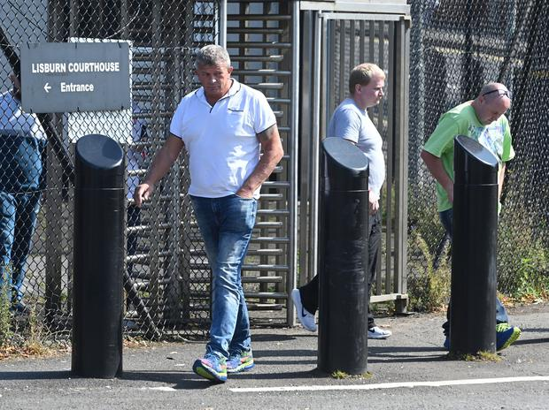 Family and Friends of Malcolm McKeown attend Court as two men , Andrew Martin and Jake O'Brien appear at Lisburn Court charged with the murder of Malcolm McKeown.