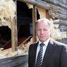 Rev Noel Hughes and the damage caused at the Free Presbyterian Church in Ballyclare