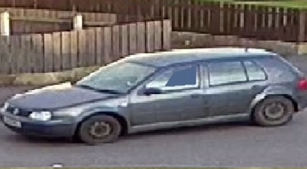 The grey Volkswagen Golf S police are tracing. Credit PSNI