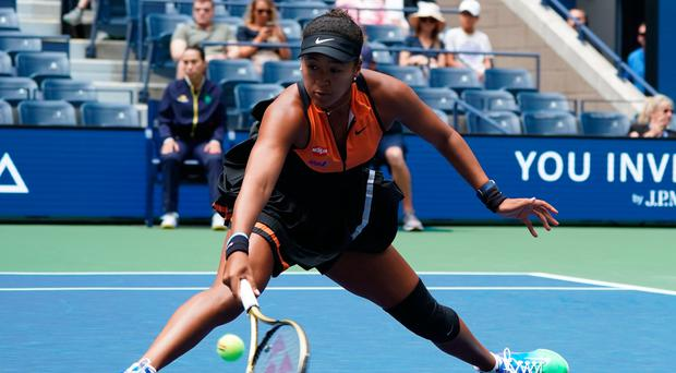 Tricky: Naomi Osaka starts her US Open title defence with victory against Anna Blinkova