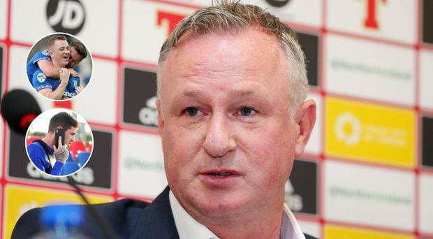 Michael O'Neill isn't ruling out late call-ups for Shayen lavery or Kyle Lafferty.