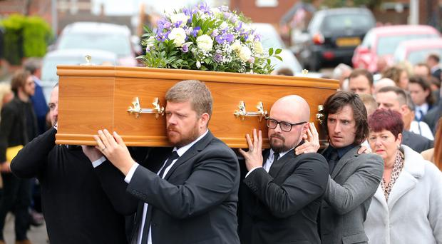 Funeral of local actress Julie Maxwell who died suddenly last week. Picture by Jonathan Porter/PressEye