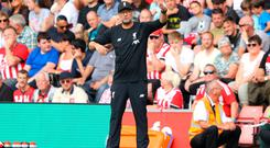 Hitting back: Jurgen Klopp says he cares about youth
