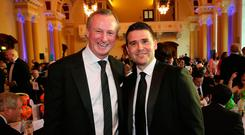 Impressive stuff: Northern Ireland boss Michael O'Neill is a big fan of what David Healy is doing as Linfield manager