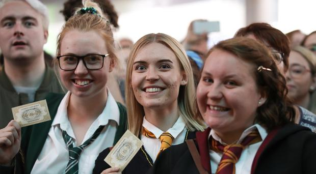 Harry Potter fans gather for Back to Hogwarts Day at London King's Cross station (Chris Radburn/PA)