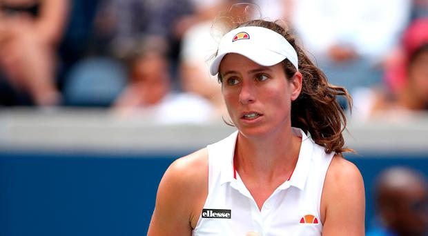 High aims: Johanna Konta is determined to reach the semis in the US