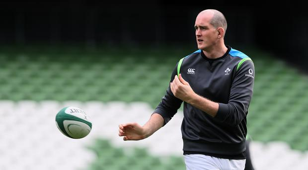 Brian O'Driscoll has had his say after Ireland left Devin Toner, pictured, out of their World Cup squad (Brian Lawless/PA)