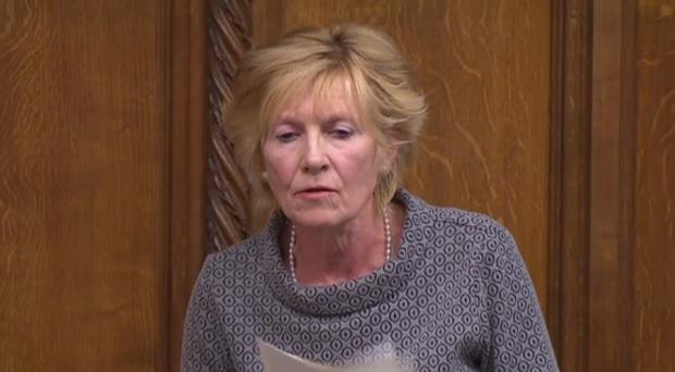 Sylvia Hermon speaking during the debate in the House of Commons.