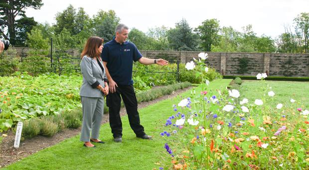 Karen Pence during a guided tour of the Victorian Walled Kitchen Garden in the grounds of Ashtown Castle in Dublin (Lafayette Photography/PA)