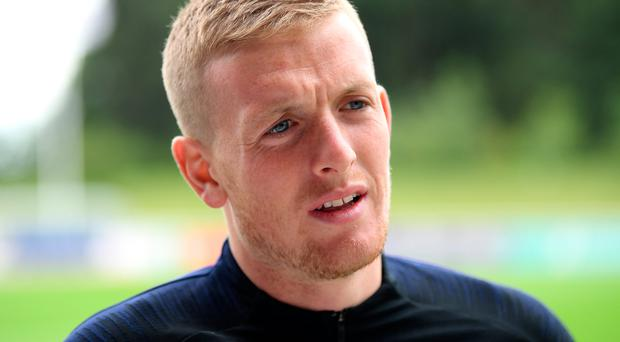 Fighting talk: Jordan Pickford