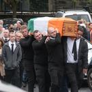 The funeral of Margaret Crockett at St Columba's Church yesterday