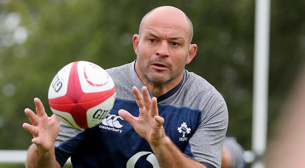 Rory Best has completed his final training session at Carton House.