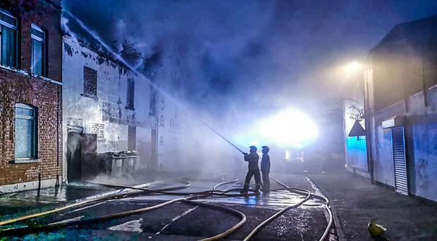 Firefighters deal with a blaze on the Woodvale road in Belfast on September 5th 2019 (Photo by PSNI north Belfast)