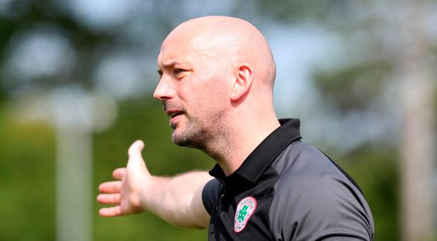 Big ambitions: Cliftonville manager Paddy McLaughlin
