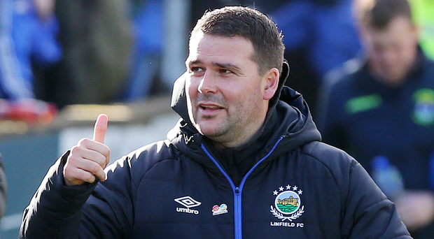 Title charge: Linfield boss David Healy wants his boys to start picking up league wins