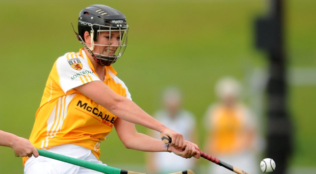 Class act: Jane Adams in action for the Antrim camogie team