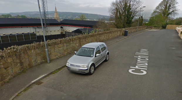 The device was discovered near a Strabane police station. Credit: Google
