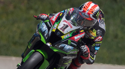 In front: Jonathan Rea now has an 91-point lead in the World Superbike Championship
