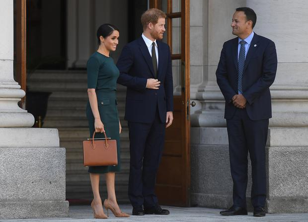 Meghan, Duchess of Sussex and Prince Harry, Duke of Sussex in Dublin, Ireland. (Photo by Clodagh Kilcoyne - Pool/Getty Images)
