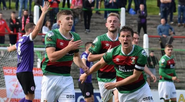 Glentoran's Paul O'Neill has three goals this season.