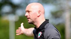 Cliftonville manager Paddy McLaughlin