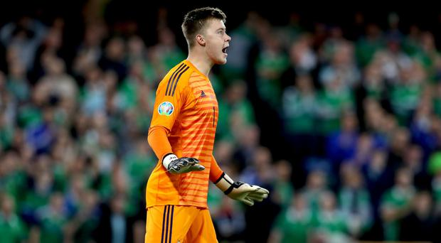Northern Ireland's Bailey Peacock-Farrell was on top form against Germany.