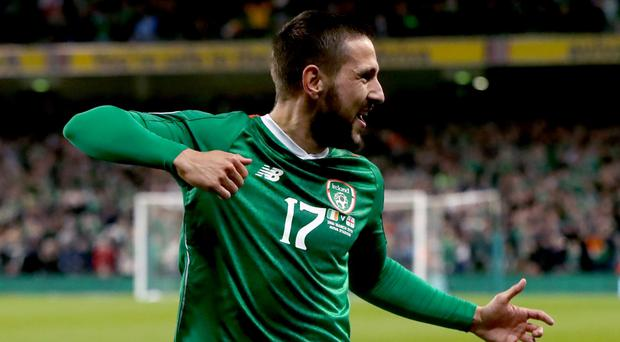 Midfielder Conor Hourihane will line up at left-back for the Republic of Ireland against Bulgaria (Niall Carson/PA)