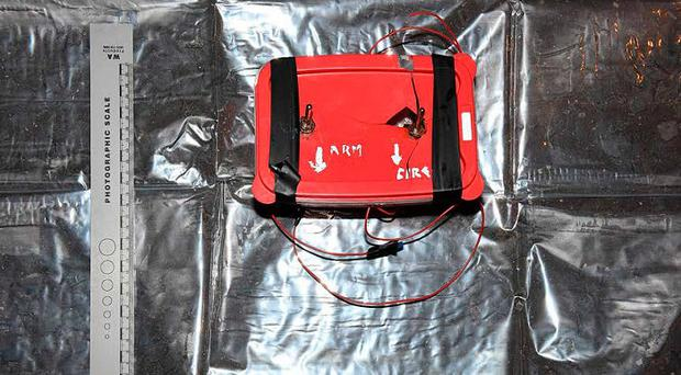 The command wire initiated improvised explosive device