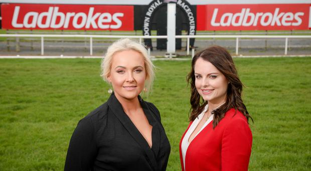 Emma Meehan, Chief Executive of Down Royal Racecourse and Nicola McGeady, Head of PR at Ladbrokes.