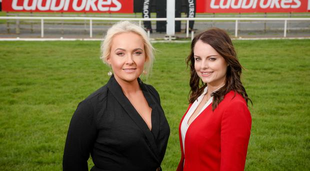 Exciting times: Emma Meehan, Chief Executive of Down Royal Racecourse, and Nicola McGeady, Head of PR at Ladbrokes