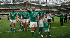 Standing ovation: Rory Best hails the crowd