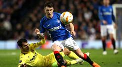Major doubt: Ryan Jack has aggravated his knee issue on Scotland duty, which has angered his club boss Steven Gerrard