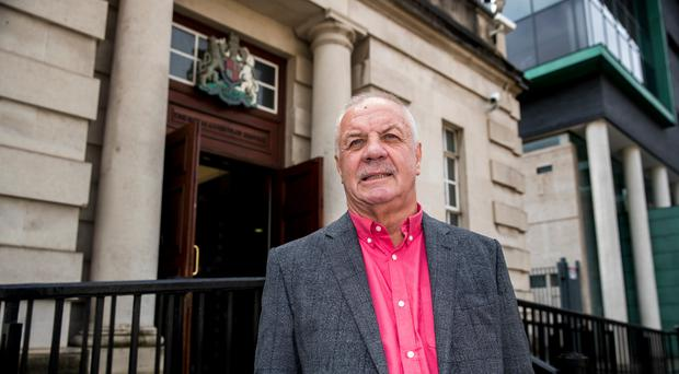 Raymond McCord outside the Royal Courts of Justice in Belfast at a previous hearing (Liam McBurney/PA)