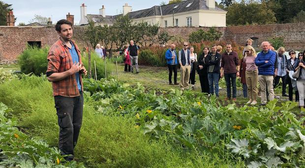 Alderman Andrew Muir's visit to the European Heritage Open Day 2019 Tour of Helens Bay Walled Garden