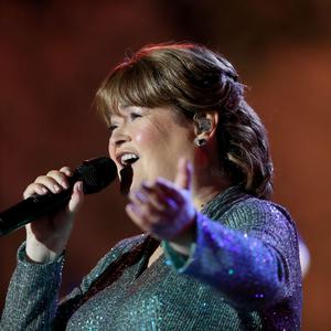 Scottish singing sensation Susan Boyle performs with the Ulster Orchestra at this year's BBC Proms In The Park Northern Ireland. Credit: William Cherry/Presseye