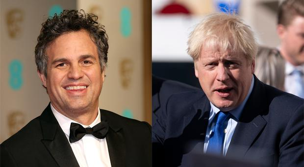 Ruffalo did not seem taken with the Prime Minister's metaphor (Jon Super and Yui Mok/PA)