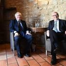PM Boris Johnson with European Commission president Jean-Claude Juncker inside a restaurant in Luxembourg prior to a working lunch on Brexit (Stefan Rousseau/PA)
